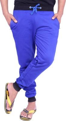 Christy World Solid Men's Blue Track Pants