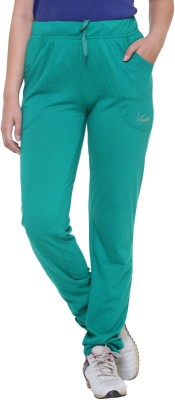 IN Love Solid Women's Green Track Pants