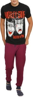 RIPR Self Design Men's Maroon Track Pants