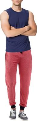 RIPR Self Design Men's Red Track Pants