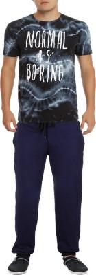 RIPR Self Design Men's Dark Blue Track Pants