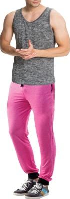 RIPR Self Design Men's Pink Track Pants