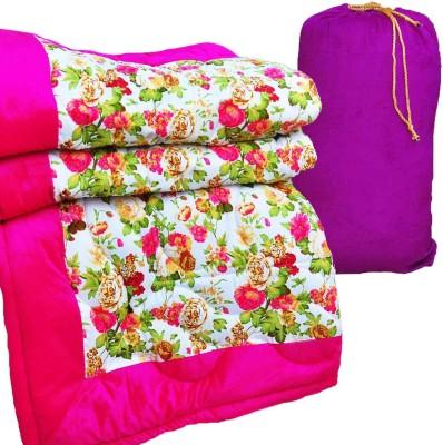 GS Museum Pink flower designed pink quilt Cotton, Poly Blend, Bamboo, Cotton Blend, Silk Batting