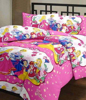 Ayushi Craft & Fashions Cartoon Double Blanket Multicolor