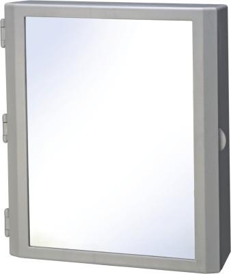 Cipla Plast Flora Bathroom Mirror Cabinet Plastic Wall Shelf