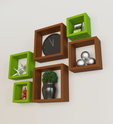 hardika furniture nesting squre MDF Wall Shelf