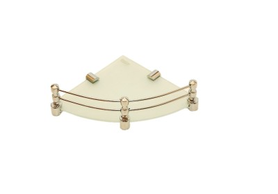 royaL indian craft Brass Bracket 10 Inch Full Frosted Glass Wall Shelf
