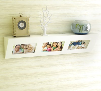 Home Sparkle Dual Concept Wooden Wall Shelf