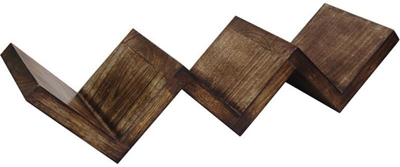 Zuniq Wooden Wall Shelf(Number of Shelves - 3, Brown)