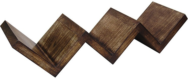 View Zuniq Wooden Wall Shelf(Number of Shelves - 3, Brown) Furniture (Zuniq)