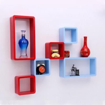 hardika furniture cube Rectangle MDF Wall Shelf