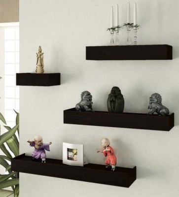 DESI KARIGAR Wooden Wall Shelf