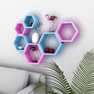 DecorNation Beehive Wooden Wall Shelf
