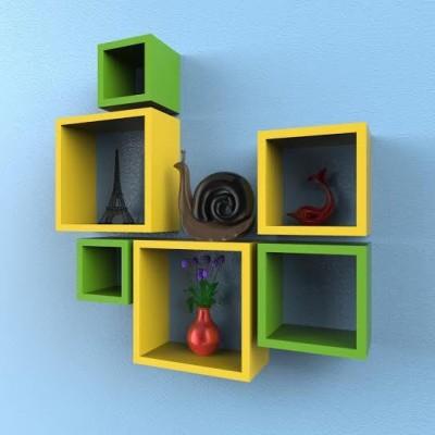 hardika furniture nesting square 6 MDF Wall Shelf