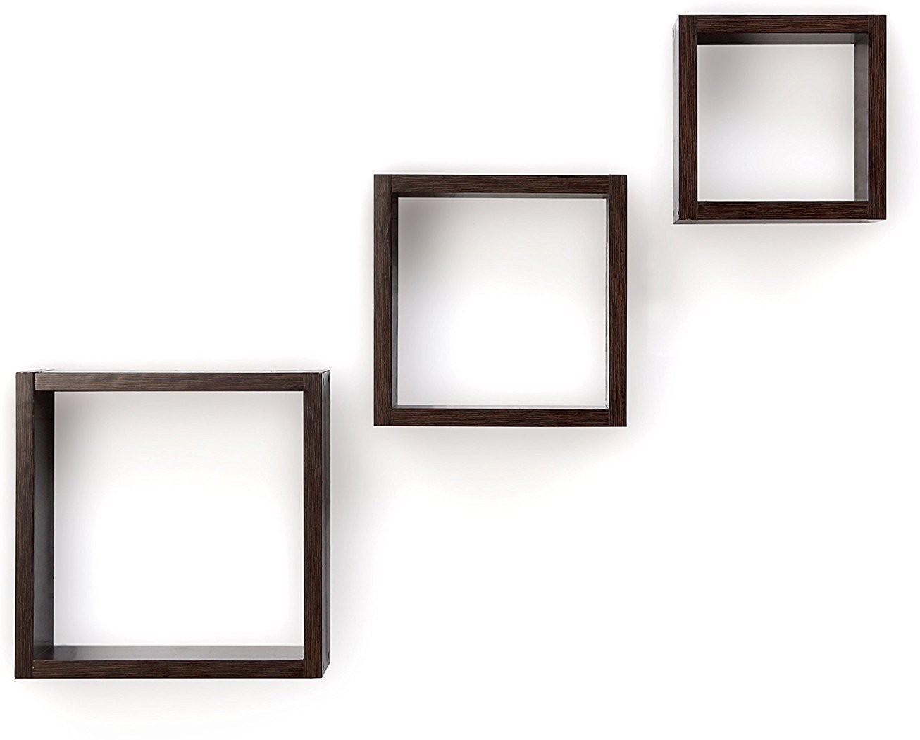 View La Stella Wooden Wall Shelf(Number of Shelves - 3, Black) Furniture (La Stella)