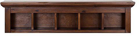 View La Stella Wooden Wall Shelf(Number of Shelves - 5, Brown) Furniture (La Stella)