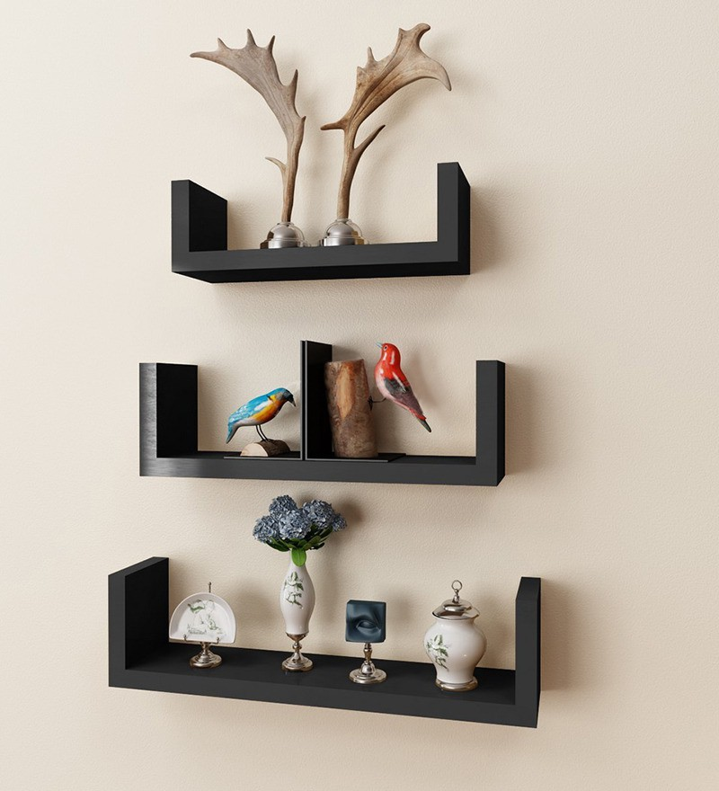 View Antiqua V Group MDF Wall Shelf(Number of Shelves - 3) Furniture (Antiqua V Group)