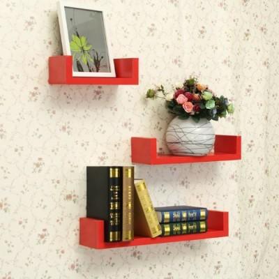 Decor Arts U Shape MDF Wall Shelf