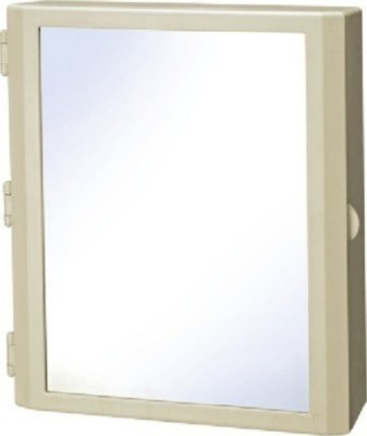 Cipla Plast Mirror Cabinet Flora Plastic Wall Shelf
