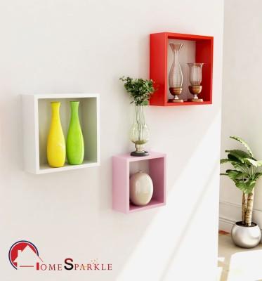 Home Sparkle Wooden Wall Shelf