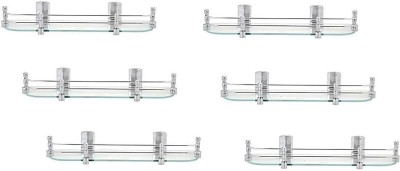 royaL indian craft (Pack of 6) True Value Glass Wall Shelf