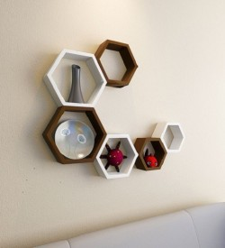 myWoodKart MDF Wall Shelf(Number of Shelves - 6)