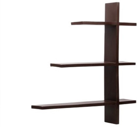 View Home Decor India MDF Wall Shelf(Number of Shelves - 4, Black) Furniture (Home Decor India)