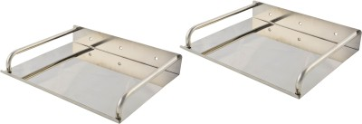 Dolphy Set of 2 Stainless Steel Wall Shelf