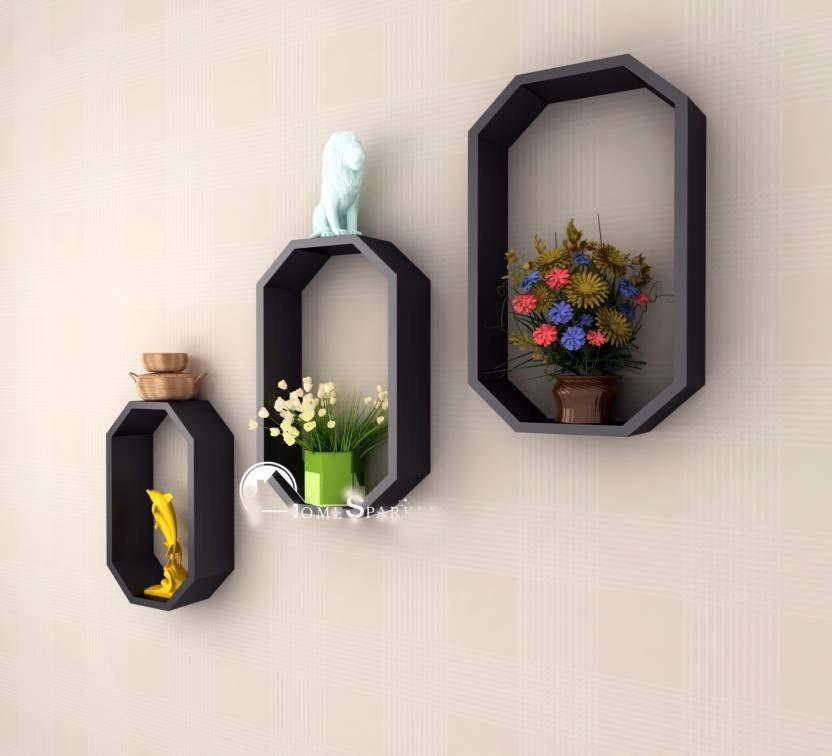 View FABULO Wooden Wall Shelf(Number of Shelves - 3) Furniture (Fabulo)