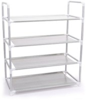 EI Iron, Nylon Wall Shelf(Number of Shelves - 4, Silver)