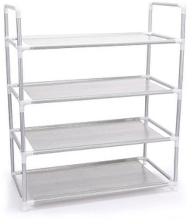View EI Iron, Nylon Wall Shelf(Number of Shelves - 4, Silver) Furniture (EI)