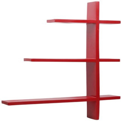 View Home Decor India MDF Wall Shelf(Number of Shelves - 4, Red) Furniture (Home Decor India)