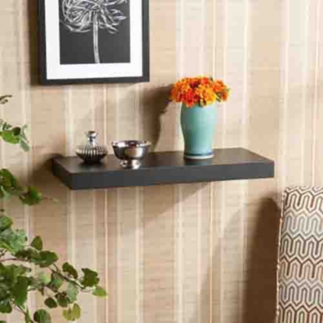 View Arsalan Classic Straight Wave Wooden Wall Shelf(Number of Shelves - 1) Furniture (Arsalan)