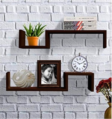Onlineshoppee Wall Decor Rack Shelves Wooden Wall Shelf