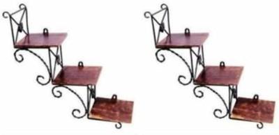 VAS Collection Home Iron, Wooden Wall Shelf