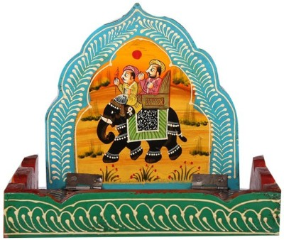Apkamart Handicraft Wall Hanging Bracket & Small Storage Stand - Wall Decor Showpiece and Key Stand for Home Decor and Gifts Wooden Wall Shelf(Number of Shelves - 1, Multicolor)