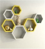 Craftatoz Wooden Wall Shelf (Number of S...