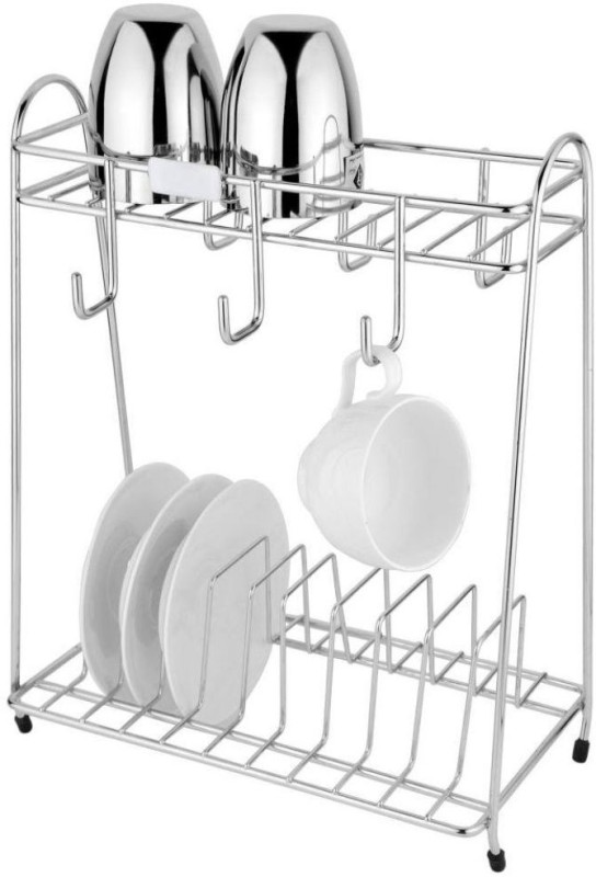 JVG Stainless Steel Wall Shelf(Number of Shelves - 1, Silver)