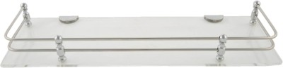 Dolphy Acrylic Clear Stainless Steel Wall Shelf