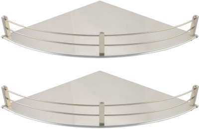 Dolphy Set Of 2 Corner-12x12 Inch Stainless Steel Wall Shelf