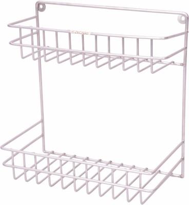 Zecado Medium Multipurpose Rack Stainless Steel Wall Shelf(Number of Shelves - 2, Silver)