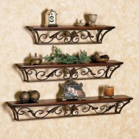 Artesia Antique Set of 3 Wooden Wall Shelf(Number of Shelves - 3, Brown)