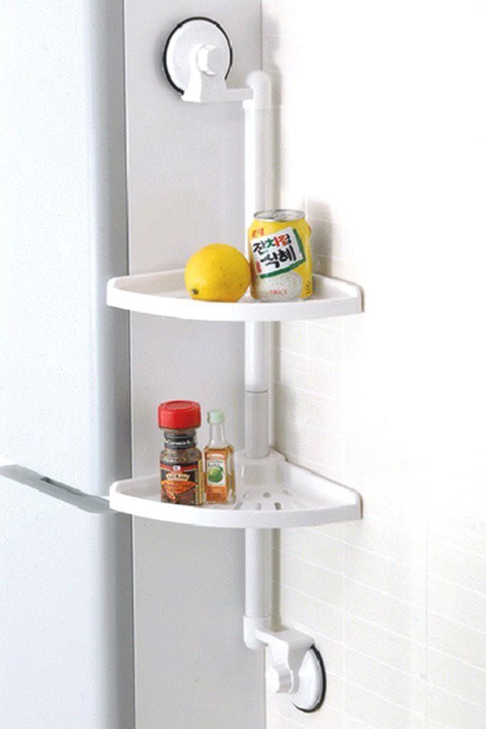 Hokipo 2 - Layer Suction Cup Plastic Wall Shelf