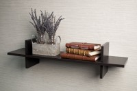 M.H.Inc. Wooden Wall Shelf(Number of Shelves - 1, Black)