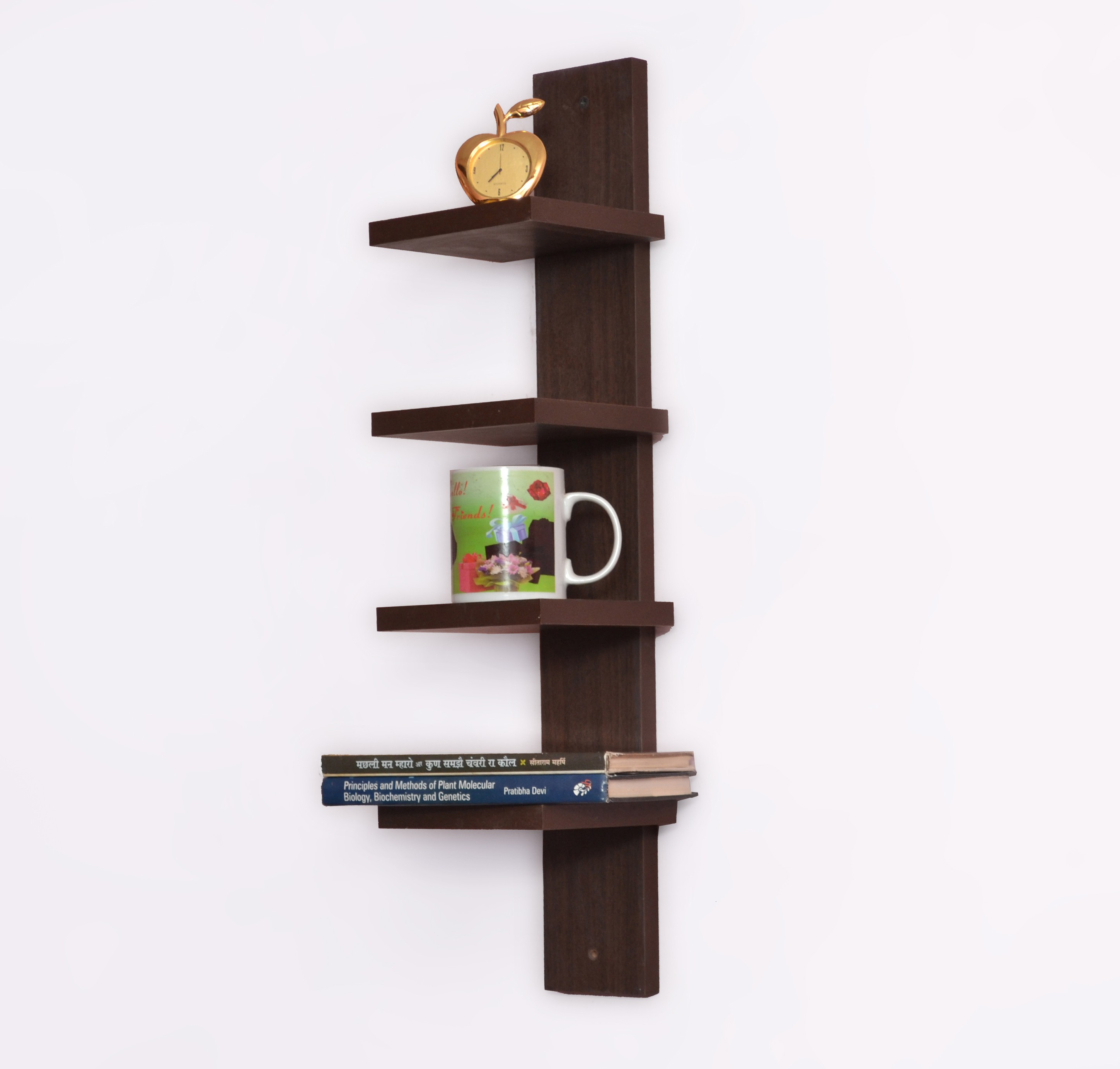 View Usha Furniture Wooden Wall Shelf(Number of Shelves - 4, Brown) Furniture (Usha Furniture)