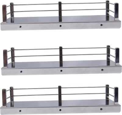 Dolphy Set Of 3 Bathroom/Kitchen Stainless Steel Wall Shelf