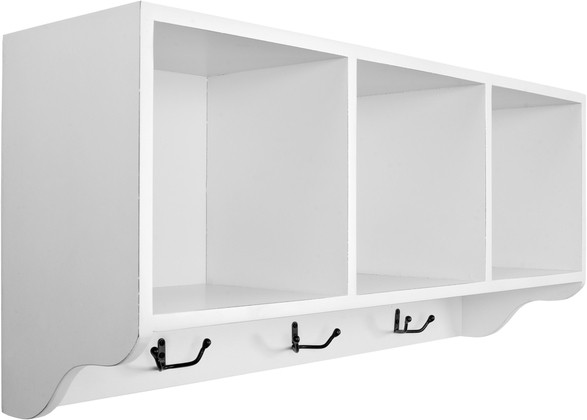 View Amour Oaks Wooden Wall Shelf(Number of Shelves - 3, White) Furniture (Amour)