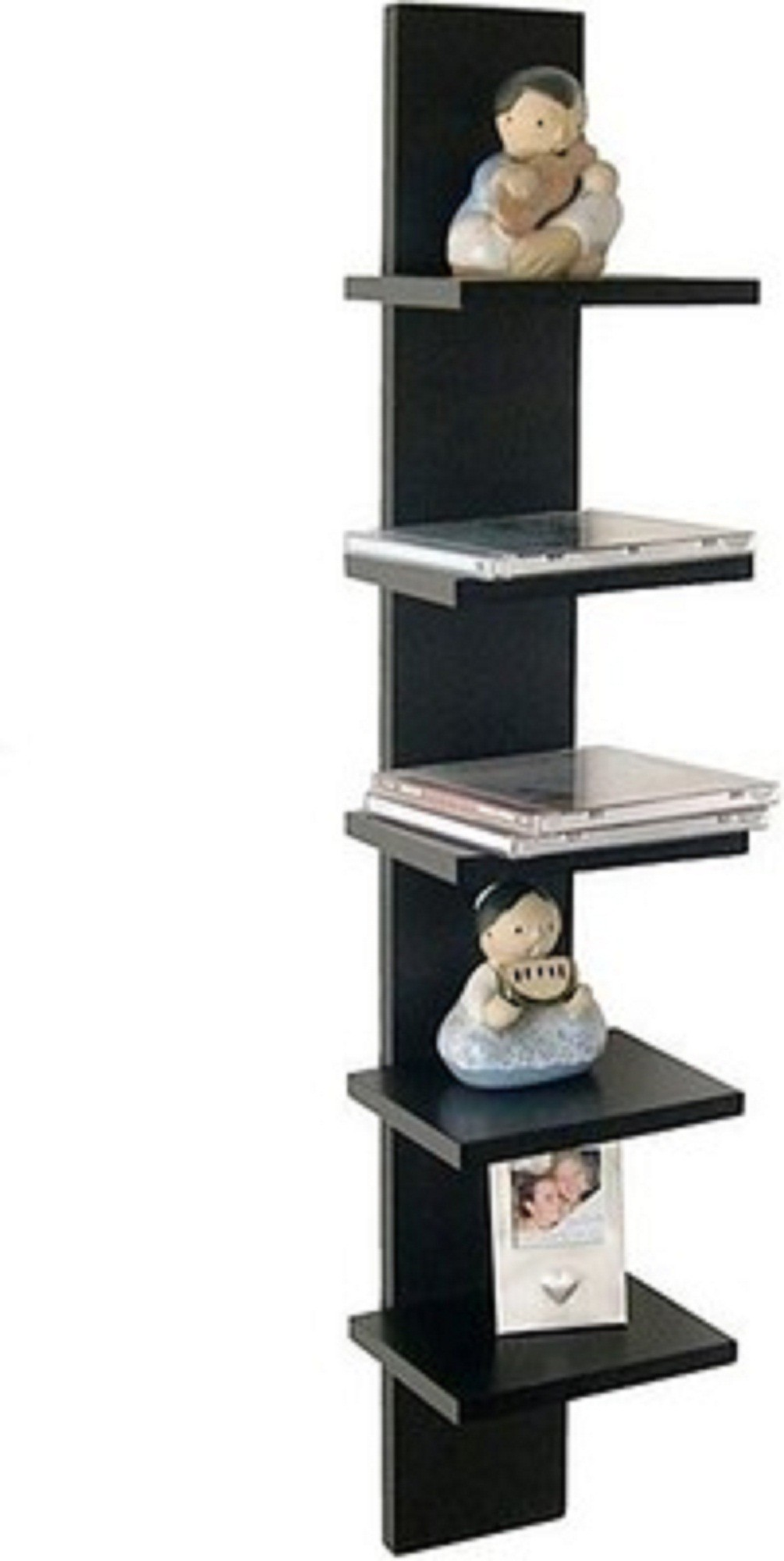 View Arsalan 5 - Tier Wooden Wall Shelf(Number of Shelves - 1, Black) Furniture (Arsalan)