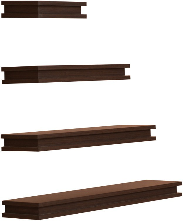 View Amour BS019 Wooden Wall Shelf(Number of Shelves - 4, Brown) Furniture (Amour)