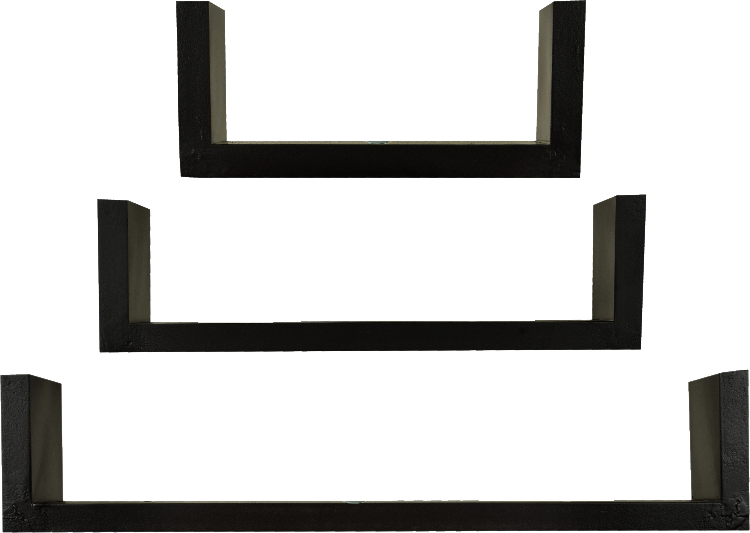 View Loxia Wooden Wall Shelf(Number of Shelves - 3, Brown) Furniture (Loxia)